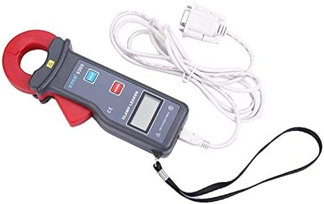 Gulakey ポータブル科学高精度クランプ漏れ電流計AC電流測定、60.0Aの範囲AC 0.000ミリアンペア、ジョーサイズ25X30ミリメートル。RS232インタフェースデータのアップロード機能、データSを装備