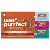 Iams Purrfect Delights 18-Can Variety Pack Canned Cat Food, 3 oz [Variety Pack: Tempt Me Tuna & Mackerel (6); Packed With Sardines (6); Tuna-Topia (6) Wet Cat Food] For Sale