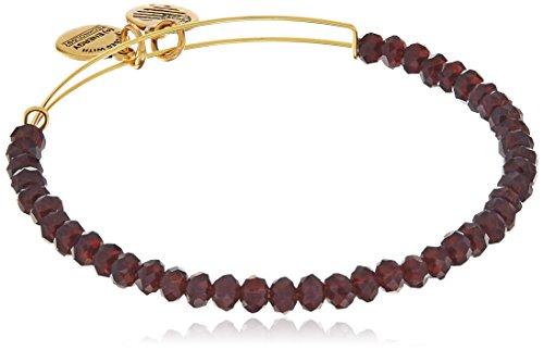 Alex and Ani Brilliance Bead Pink/Shinny Gold Bracelet (Alex And Ani Red Beaded Bracelet)