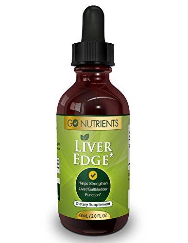 Borde del hígado - apoyo hierbas suplemento para la desintoxicación y limpieza - concentrado y potente - grande 2 Oz botella