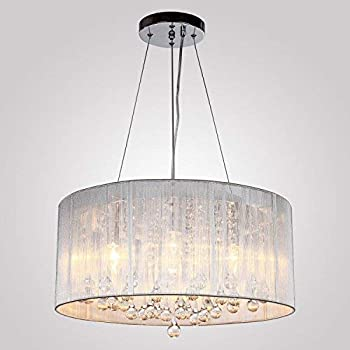 fabulous drum pendant light fixtures living room | Y&L® Modern Luxury Crystal Pendant Light in Drum Shade ...