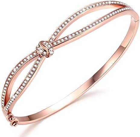 apaciguar freno insulto  Angelady Classic Bracelets Bangles for Womens Rose Gold Bracelet Women  Crystals from SWAROVSKI-Birthday Valentine's Day Mother's Day Gift for  Women Mum Wife-Come with Gift Box (Rose Gold): Amazon.co.uk: Jewellery