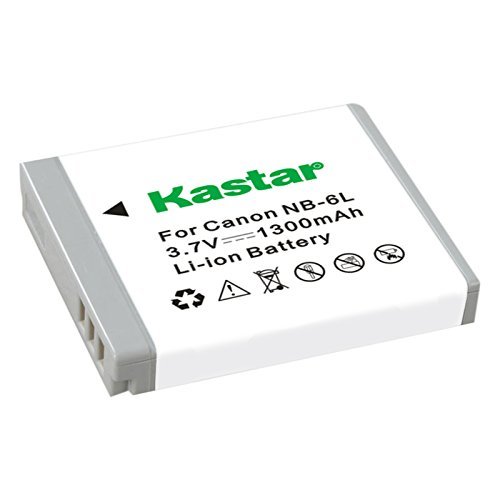 Kastar Lithium-Ion Rechargeable Battery for Canon NB-6L, NB-6LH and PowerShot SD770 IS, SX170 IS, SX260 HS, SX280 HS, SX500 IS, SX510 HS, SX520 HS, SX530 HS, SX600 HS, SX610 HS, SX700 HS, SX710 HS