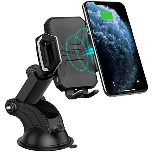 CHOETECH Cargador Inalámbrico Coche, Wireless Car Charger Soporte Carga Rápida 7.5W para iPhone 11 Pro/11/Xs MAX/XR/SE 2…
