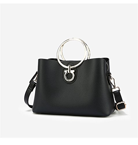 Lady'S Shoulder Lady'S Single Bag Black Slanted Slanted 7gzfnqvv