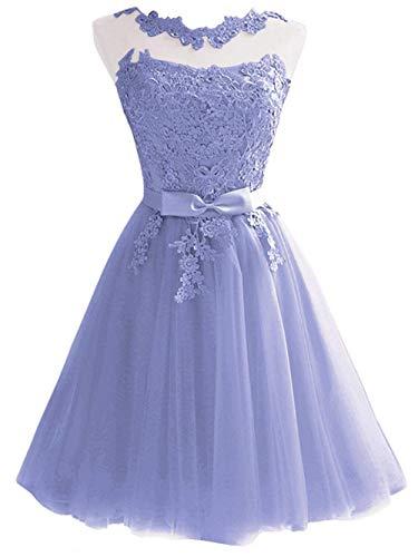 Dama Honor Novia Corto Lila Noche Jaeden Vestido Baile De v7zwqFqX