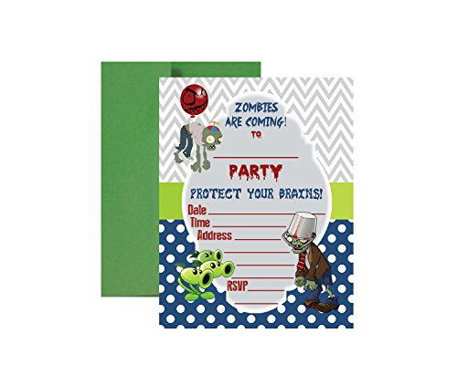 PVZ Birthday Party Supplies (Birthday Invitations)