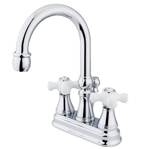 Madison Chrome Polished Faucet (Elements of Design ES2611PX Madison Two Handle 4