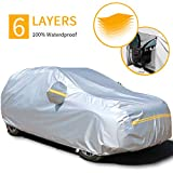 "Snow Protect Car Cover,6 Layers Car Cover Outdoor Protection Winter Car Cover Waterproof All Weather Universal Full Car Cover with Zipper A5-YL(Fits SUV 187"" to 192"")"
