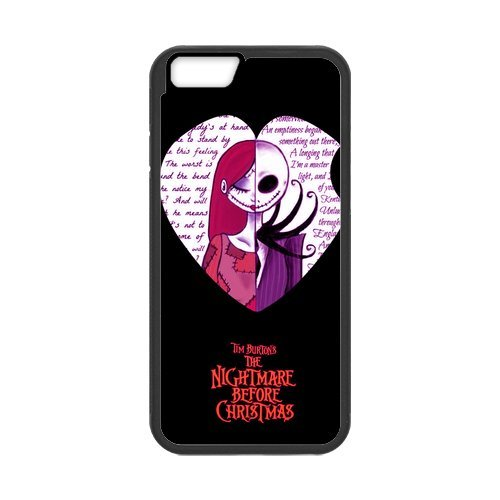 Fayruz- Personalized Protective Hard Textured Rubber Coated Cell Phone Case Cover Compatible with iPhone 6 & iPhone 6S - The Nightmare Before Christmas Cartoon F-i5G1163