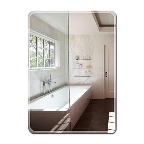 Bathroom Mirror,Frameless Rectangle Vanity Wall Mounted Mirror,Paste or Wall Hanging Fixing Kit,Modern - Hanging Mirrors Kit Wall Frameless Fixing Bathroom