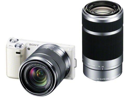 ソニー SONY ミラーレス一眼カメラ α NEX-5N ダブルズームレンズキット ホワイト NEX-5NY/W
