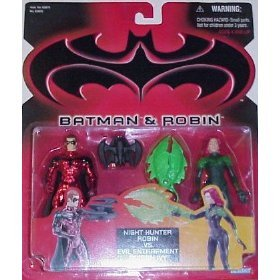 Batman & Robin Night Hunter Robin vs. Evil Entrapmeny Poison Ivy Set by Kenner