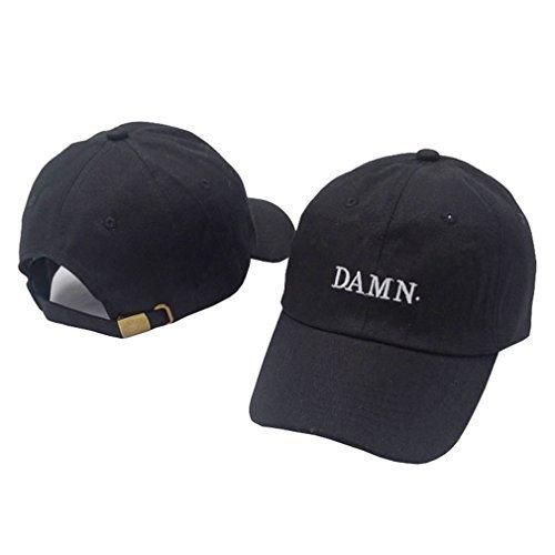 9ef1a1b9804 Kokkn Damn Baseball Cap Duck Tongue Hat Outdoor Leisure Visor Hat Dad Hats  (Black)