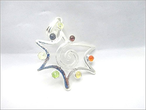 - Jet Star Metal Chakra Pendant Free Booklet Jet International Crystal Therapy 2 inch Approx. A++ Top Grade Jet International Healing Spiritual Divine India Chakra Image is JUST A Reference