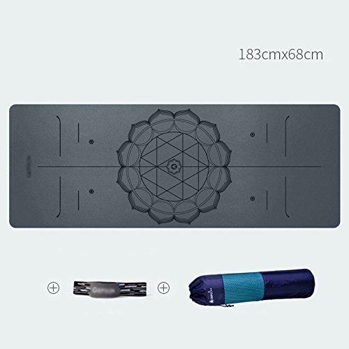 XIAOMEI ヨガマット 天然ゴムのヨガマットMsノンスリップ高弾性ソフト職業フィットネスマット拡張されたピクニックマットマンワイドカーペット183* 0.6cm 5mm 68* 0.5/ 5mm|Gray 0.6cm B07NZNX83T Gray 5mm 5mm|Gray, アントニオ洋服店:18084514 --- harrow-unison.org.uk