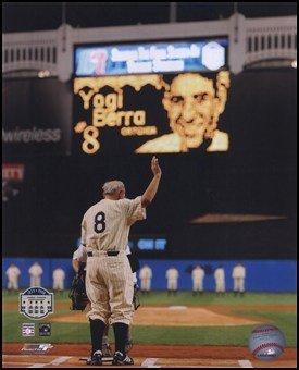 Yogi Berra Final Game At Yankee Stadium 2008 Art Poster PRINT Unknown 8x10