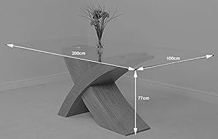 MODERN FURNITURE DIRECT Valencia Grande Roble 200 cm Mesa de ...