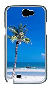 Samsung Galaxy Note 2 Case and Cover- Beach PC Case for Samsung Galaxy Note 2 / Note II / N7100 White