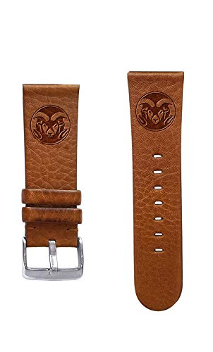 (Affinity Bands Colorado State University Rams 20mm Premium Leather Watch Band - 2 Lengths - 3 Leather Colors - Officially Licensed)