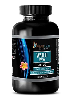 Antioxidant Supplement - Water Away - Premium Herbal Blend - Blood Pressure Essentials - 1 Bottle (60 Capsules)