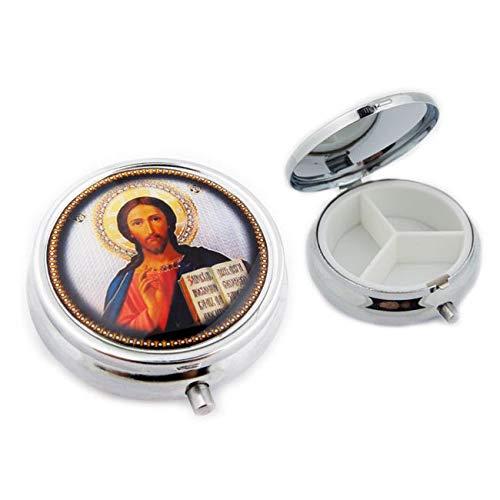 (World Faith Pill Box Christ The Teacher Icon Pill Box 2 Inches)
