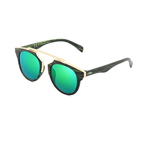 GOGH Ebano sol de estilo Verde TWIG Gafas hombre madera VAN mujer pI1fycWnq