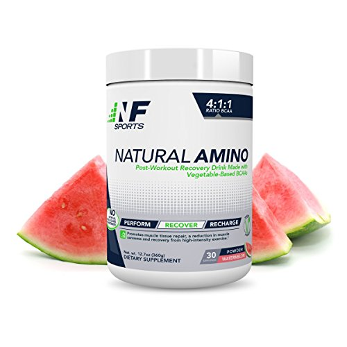 NF Sports Natural Amino - Post-Workout Recovery Drink Mix Made with Vegetable-Based BCAA - Watermelon Flavor - 100% Satisfaction Guaranteed - 30 Servings by NF Sports