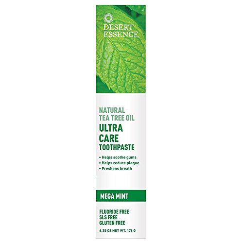 Desert Essence Toothpaste, Tea Tree U/Care Mint, 6.25 Ounce