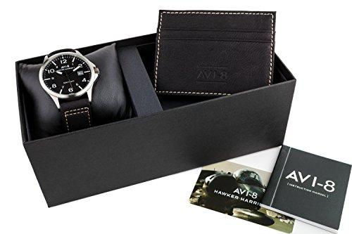 s Hawker Harrier II Black Leatherette Strap Watch Box Set ()