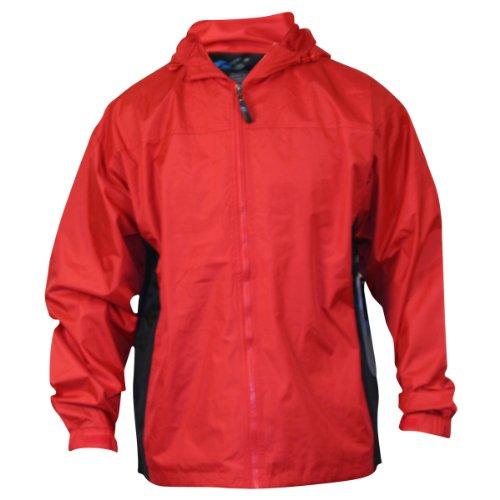 Men's i5 lightweight Hooded Windbreaker Jacket,Large,Red / Black