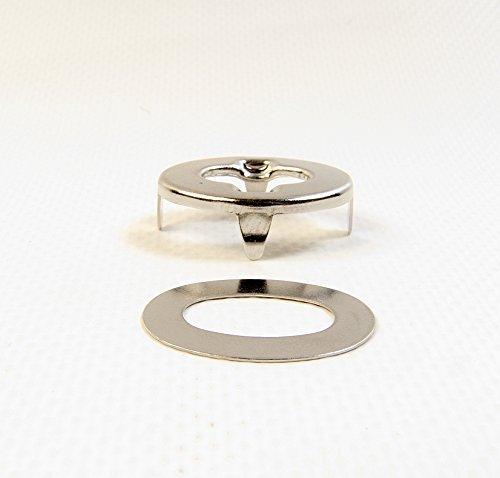 DOT Common Sense Eyelet w/ Backing Plate, Marine Grade Nickel Plated Brass (20 Piece Set) by Dot Scoville
