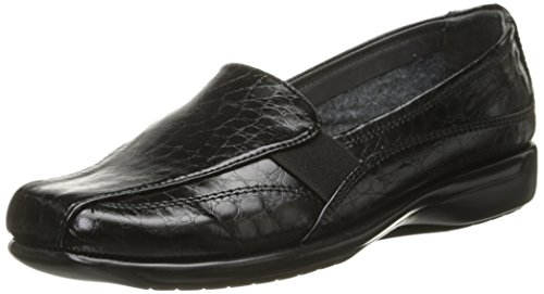 Aerosoles A2 Womens Tricycle Slip-On Loafer Black Crocodile
