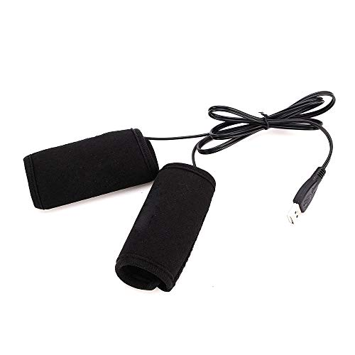 Motorcycle Bike USB Electric Heated Grips Handle Handlebar Warmer Sleeves Connect To USB Power Adapter Socket (Power Tools Trend)