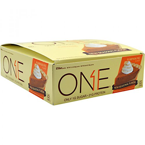 ONE Protein Bar, Pumpkin Pie, 21g Protein, 1g Sugar, 12-Pack