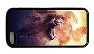 Hipster free for iphone 4/4s case abstract lion art TPU Black for Apple for iphone 4/4s