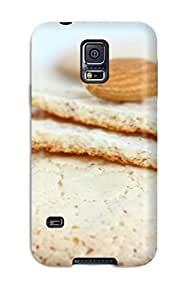 Galaxy S5 Case Cover - Slim Fit Tpu Protector Shock Absorbent Case (cookies)