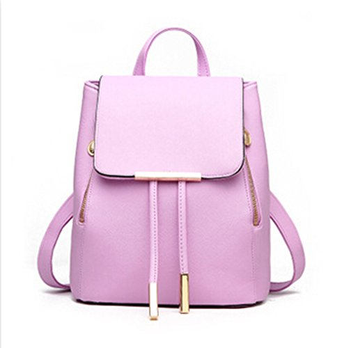 Leather Erin (PU Leather Mochila Escolar School Bags For Teenagers Girls Leisure Backpacks Candy Color)