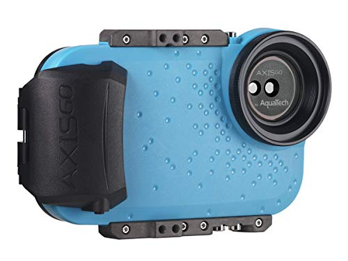 AquaTech AxisGo Water Housing for iPhone X(S) MAX/XR - Electric Blue