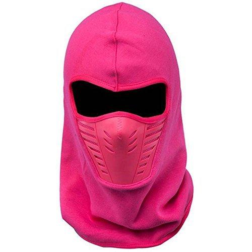 ETCBUYS Unisex Winter Fleece Face & Windproof Ski Mask (Pink)