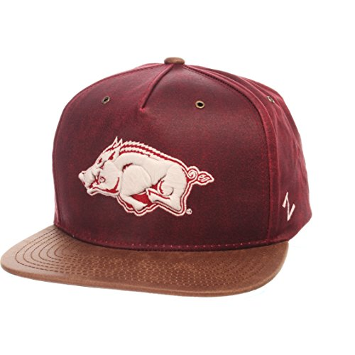 Razorbacks Adult Men Tribute Heritage Collection Hat, Adjustable, Team Color/Cracked Leather ()