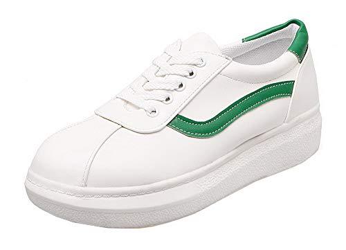 Basso Pelle Punta Tacco Verde Scamosciata Flats GMMDB006781 Ballet Finta Donna Chiusa AgooLar WwOx6nq0U1