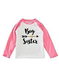 "XUNYU Baby Girls Infant Long Sleeves T Shirt""Big sister"" Printing Top Blouse"