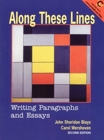 along these lines writing paragraphs and essays sixth edition Coupon: rent along these lines writing paragraphs and essays 6th edition (9780205110131) and save up to 80% on textbook rentals and 90% on used textbooks get free 7-day instant etextbook access.