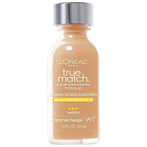 L'Oreal Paris Makeup True Match Super-Blendable Liquid Foundation, Caramel Beige W7, 1 fl. oz.