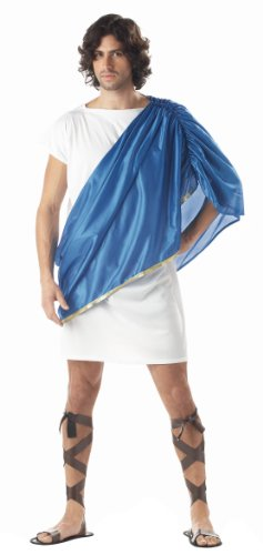 California Costumes Men's Toga Man,White/Blue,One Size Costume ()