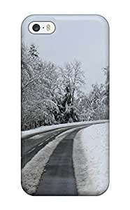 Zheng caseIphone 5/5s Case Cover Skin : Premium High Quality A Snow Covered Road Case