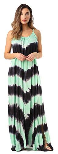(Riviera Sun 21772-CHR-1X Summer Dresses Maxi Dress Sundresses for Women Charcoal/Mint)