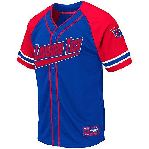 Colosseum Mens Louisiana Tech Bulldogs Wallis Baseball Jersey - L