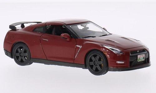 Nissan GT-R (R35) black Edition, metallic-dark red, 2015, Model Car, Ready-made, Premium X 1:43